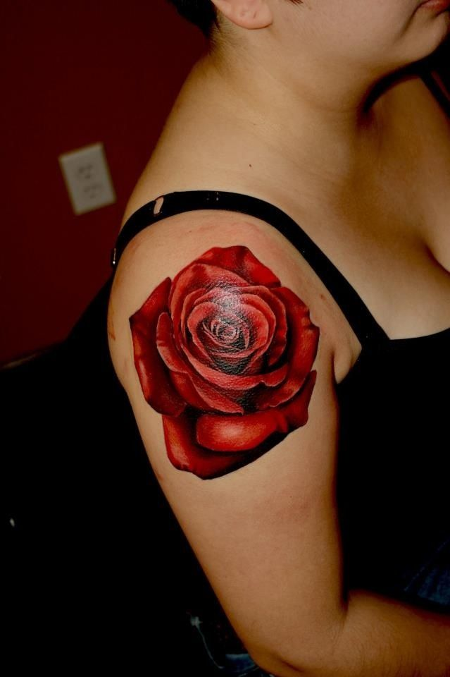 Arm 3D Red Rose Tattoos Best Tattoo Designs Shoulder Ideas And Designs