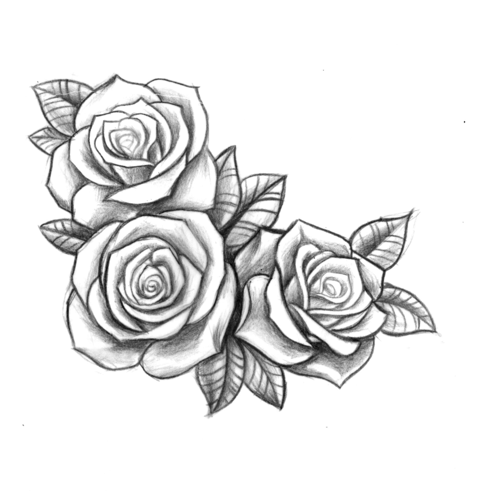 Custom Roses For Bec Tattoos Rose Drawing Tattoo Ideas And Designs
