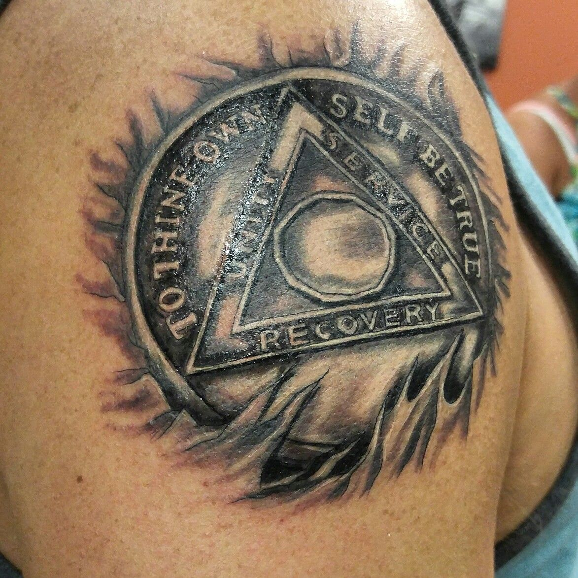 Aa Recovery Tattoo Tattoos By Nikki Forte Anonymous Ideas And Designs