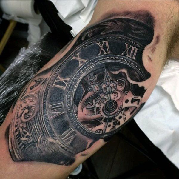 100 Pocket Watch Tattoo Designs For Men Cool Timepieces Ideas And Designs