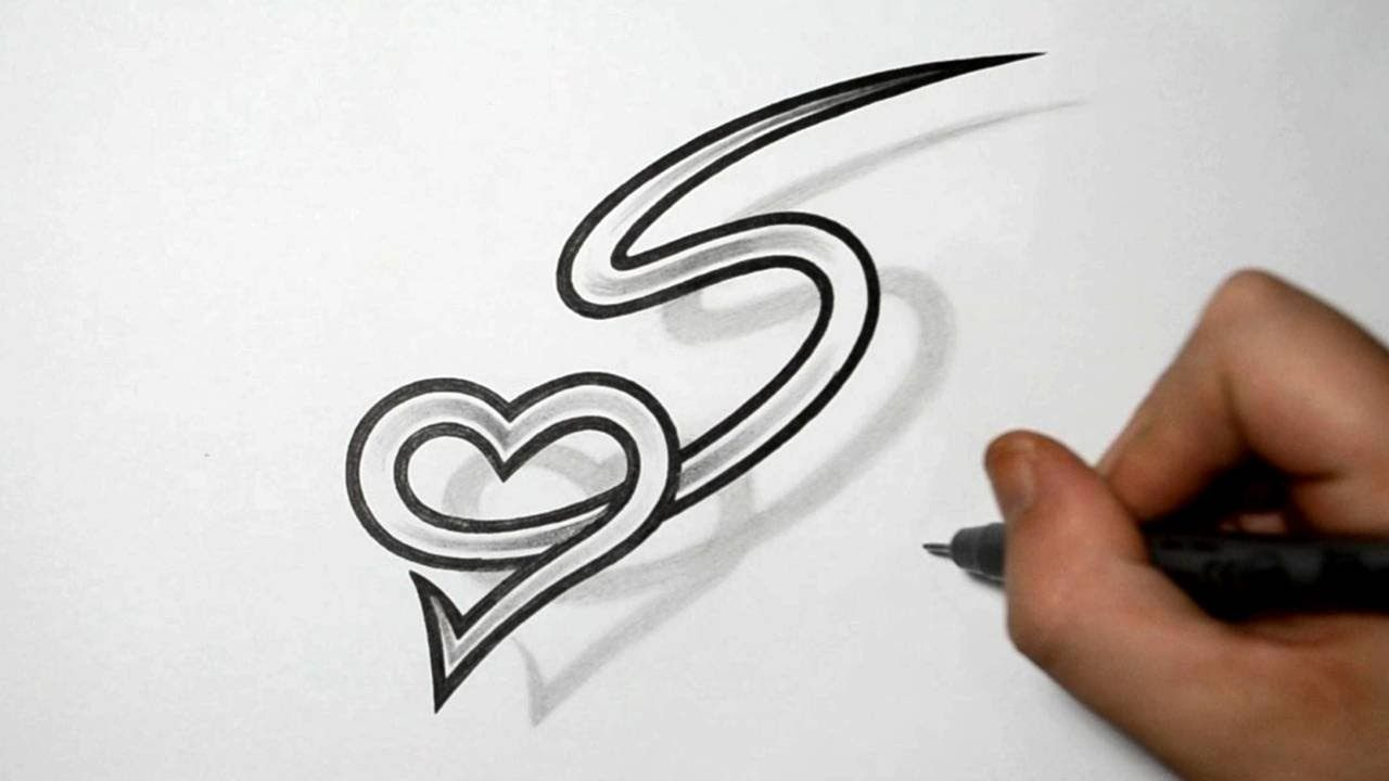 Letter S And Heart Combined Tattoo Design Ideas For Ideas And Designs