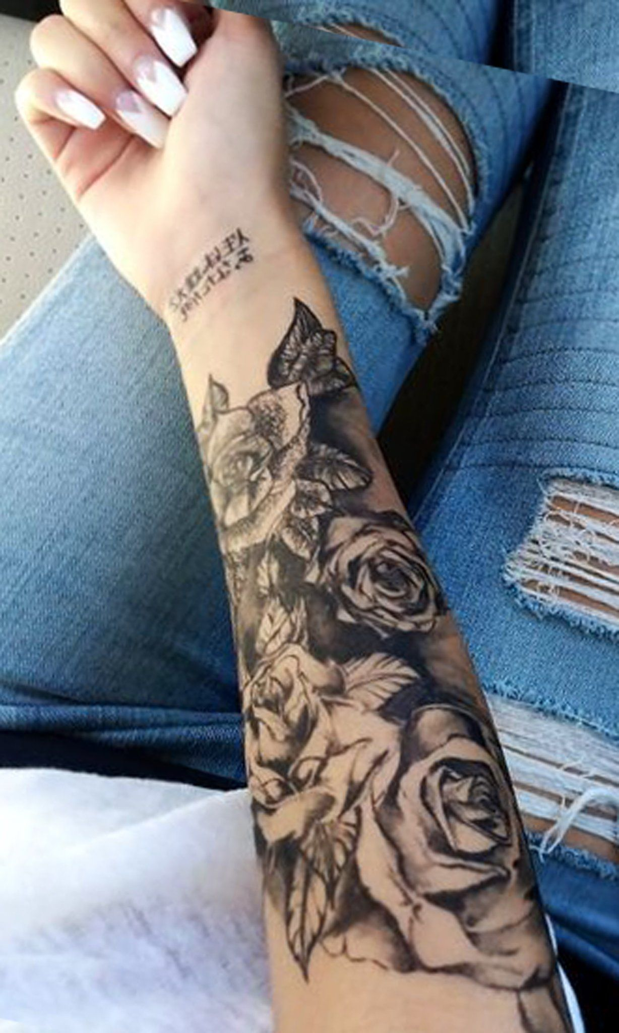 Black Rose Forearm Tattoo Ideas For Women Realistic Ideas And Designs