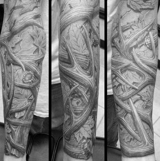70 Antler Tattoo Designs For Men Cool Branched Horn Ink Ideas And Designs