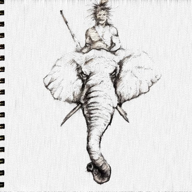 African Warrior On Elephant Tattoo Ideas Pinterest Ideas And Designs
