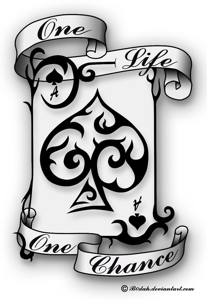Ace Of Spades Tattoo Design By B0Dah Deviantart Com On Ideas And Designs