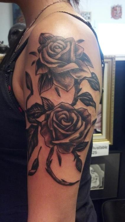 Roses Inked By Tommy Slocum At 12 Tattoo S In Groton Ideas And Designs