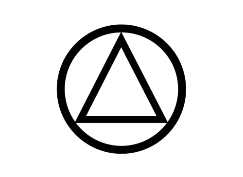 Aa Sobriety Circle And Triangle Temporary Tattoo Home Ideas And Designs