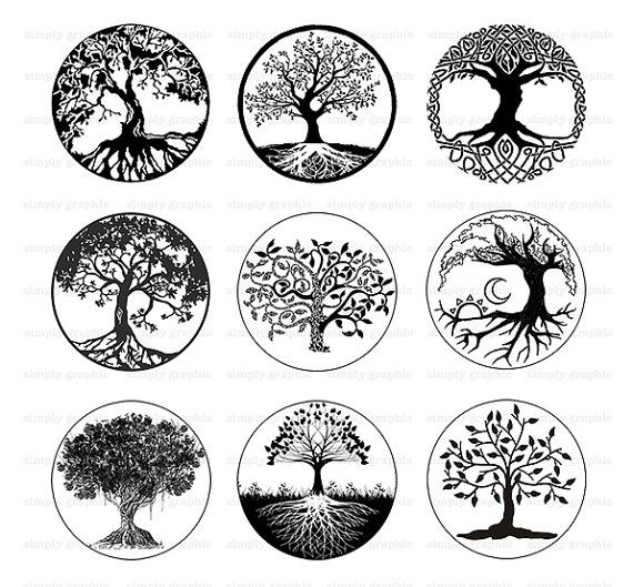 Tree Of Life Black And White Tree Clipart Digital Ideas And Designs