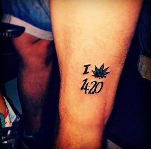 """""""I Love 420"""" Tattoo Short And To The Point This Person Ideas And Designs"""