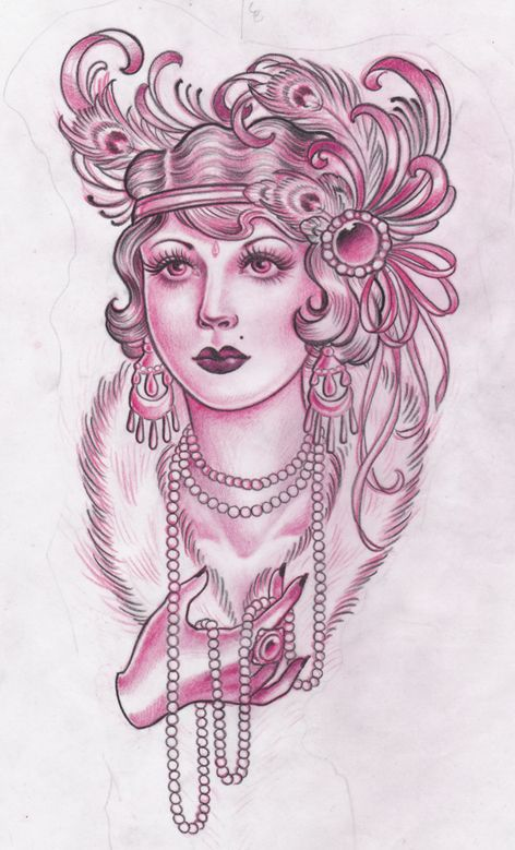 Flapper Tattoo Posted By Amy Duncan At 9 55 Pm Stuff Ideas And Designs