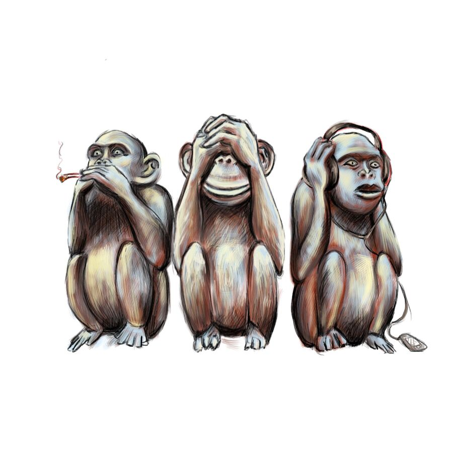 Three Wise Monkey S Tattoo Three Wise Monkeys Monkey Ideas And Designs