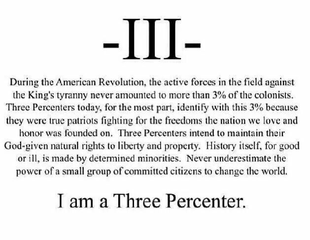 I Am A Three Percenter We Are The Iii Pinterest Ideas And Designs
