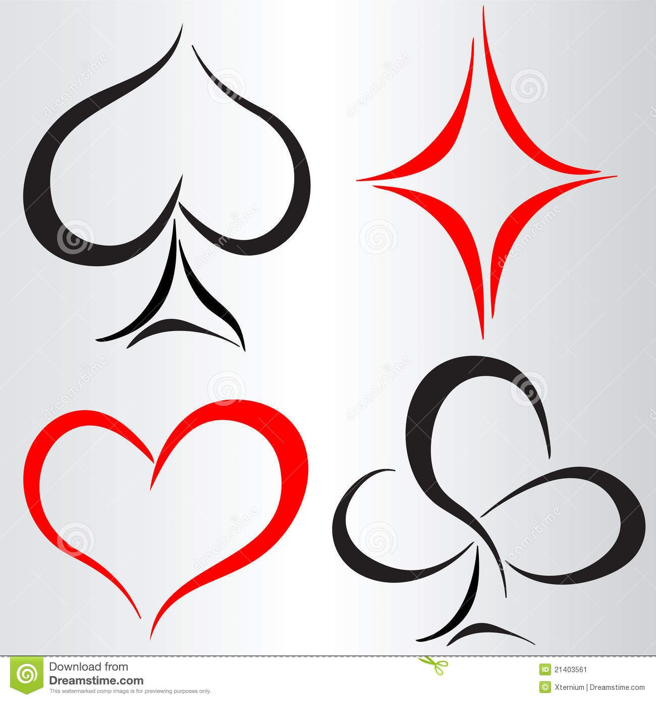 Simple Edge Card Suits Souts Card Tattoo Poker Tattoo Ideas And Designs