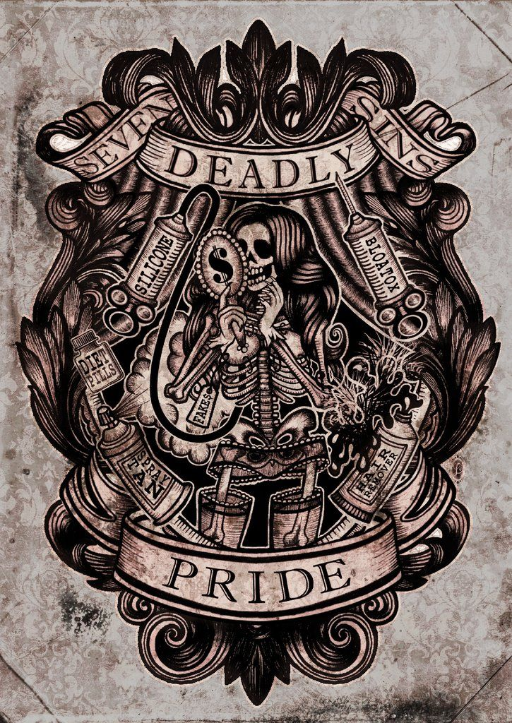 Se7En Deadly Sins Art Print Set In 2019 On Papers Ideas And Designs