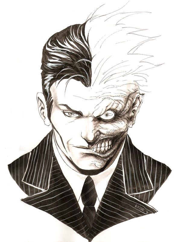 Two Face Drawing Tattoo Ideas Batman Two Faces Two Ideas And Designs