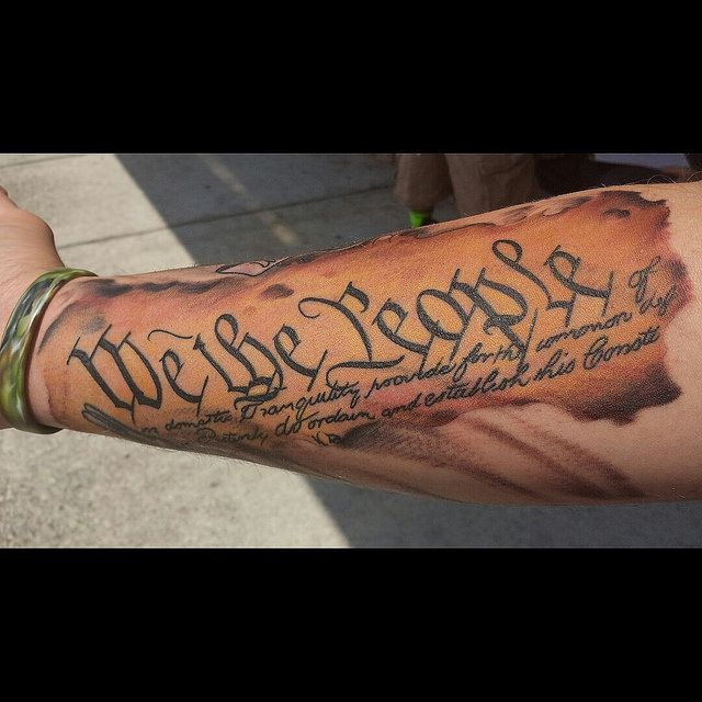 Gallery For We The People Tattoo Skin Art Tattoos Ideas And Designs