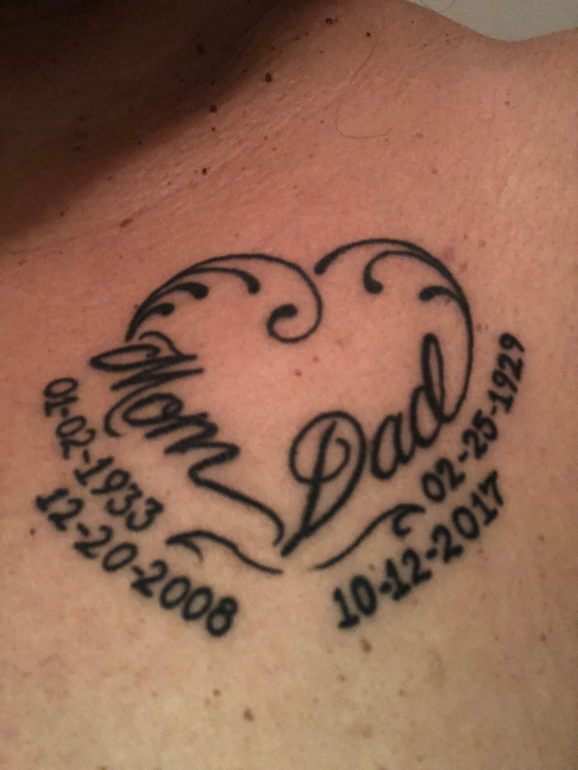 In Memory Of Mom Dad Tattoo Tattoos Tattoos For Ideas And Designs