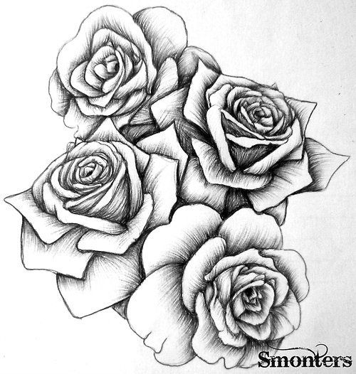 Rose Sketch By Modularsundays Black And White Rose Sketch Ideas And Designs