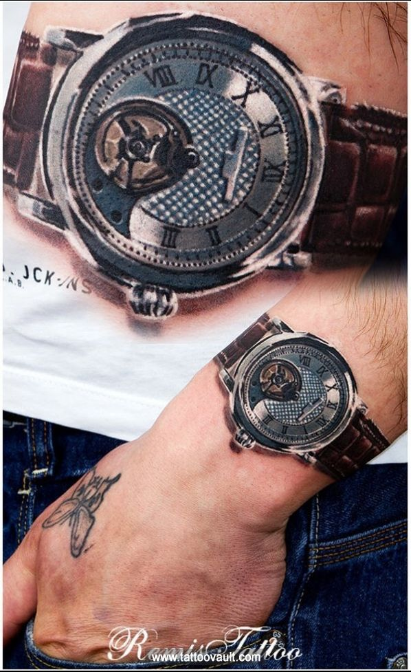 3D Watch Tattoo On Wrist Places I Love Watch Ideas And Designs