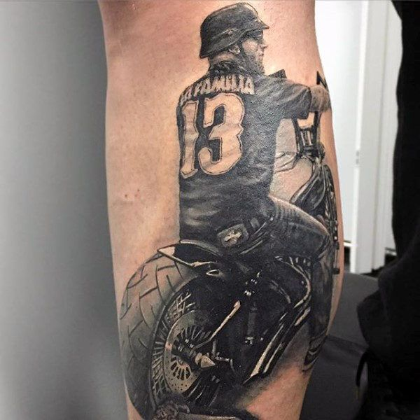 70 Biker Tattoos For Men Manly Motorcycle Ink Design Ideas And Designs