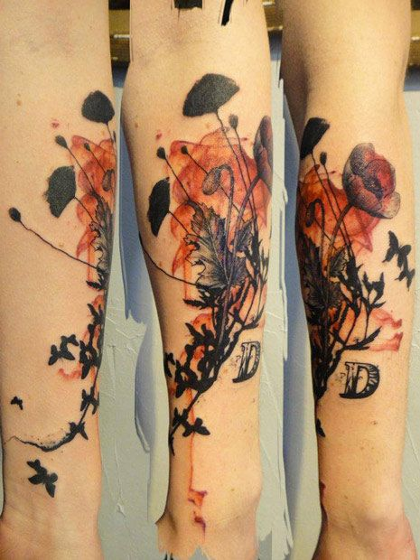 Flowers Tattoo By Xoil Tattoo Abstract Watercolor Ideas And Designs