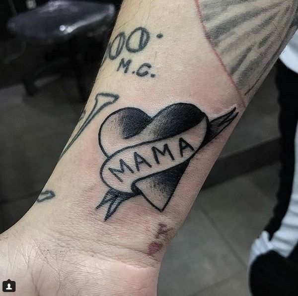 Black Tattoos Designs 2018 2019 Love Heart Mama Tattoo Ideas And Designs