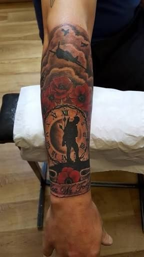 Canadian Military Tribute Tattoos Google Search Sleeve Ideas And Designs