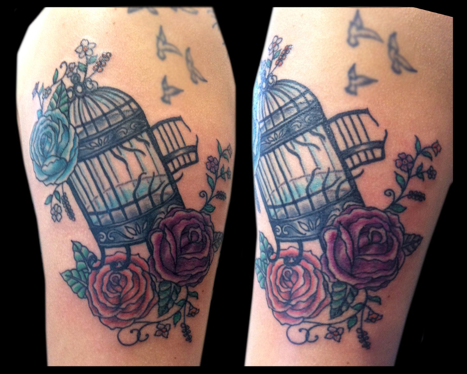 Bird Cage Tattooed By Jude — At Damask Tattoo In Seattle Ideas And Designs