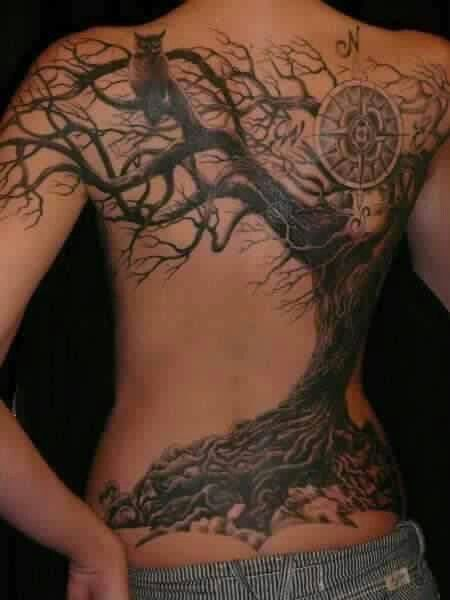Love Old Gnarly Trees Tattoos Compass Tattoo Design Ideas And Designs