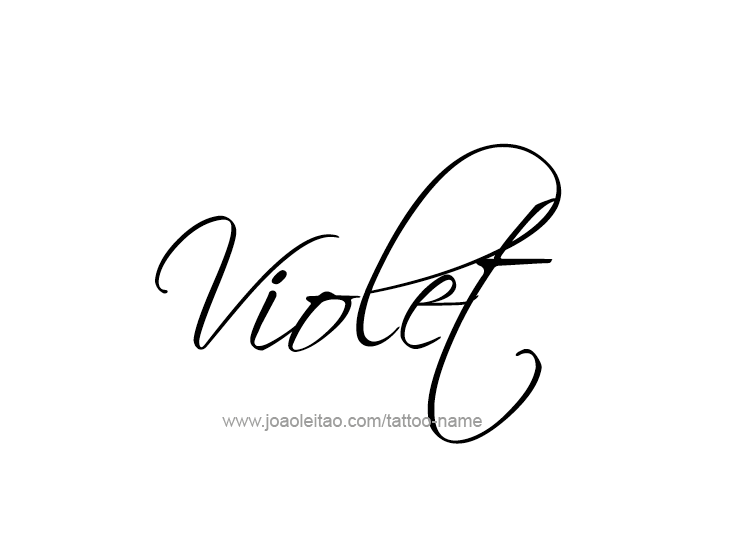 Violet Color Name Tattoo Designs Tattoo Violet Tattoo Ideas And Designs