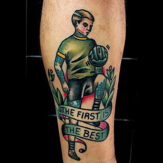 Football Tattoo Tattoo Traditional Tattoo Done By Ideas And Designs