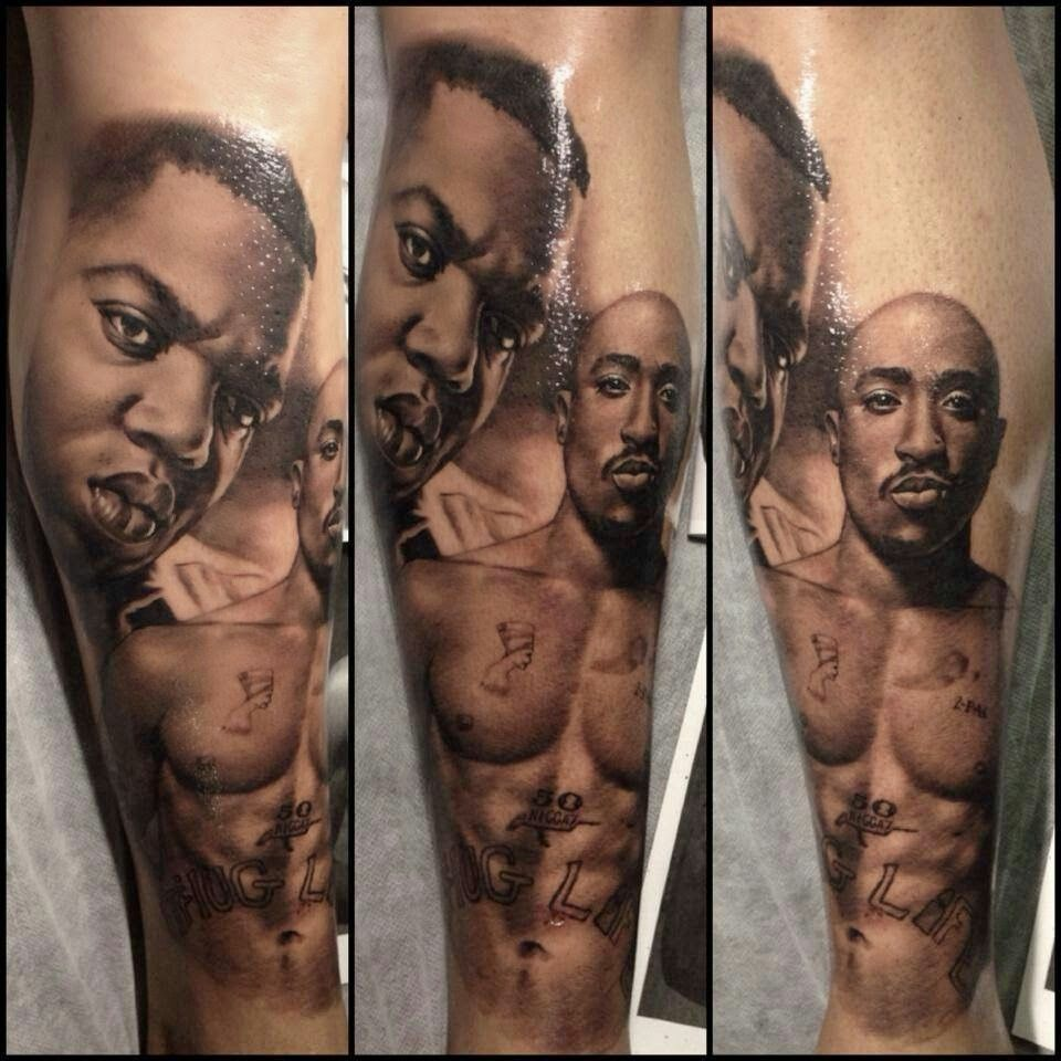 Tupac And Biggie Tattoos That I Love Tupac Tattoo Ideas And Designs