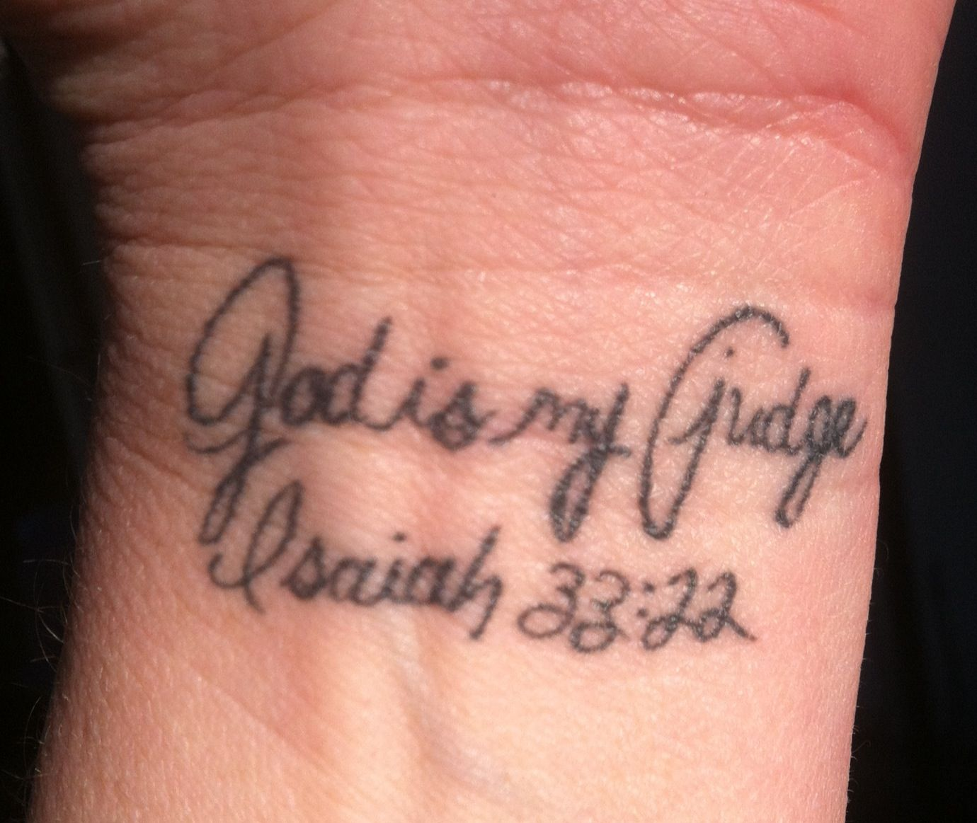 Wrist Tattoo Dana Scripture Verse Isaiah 33 22 Damber Ideas And Designs