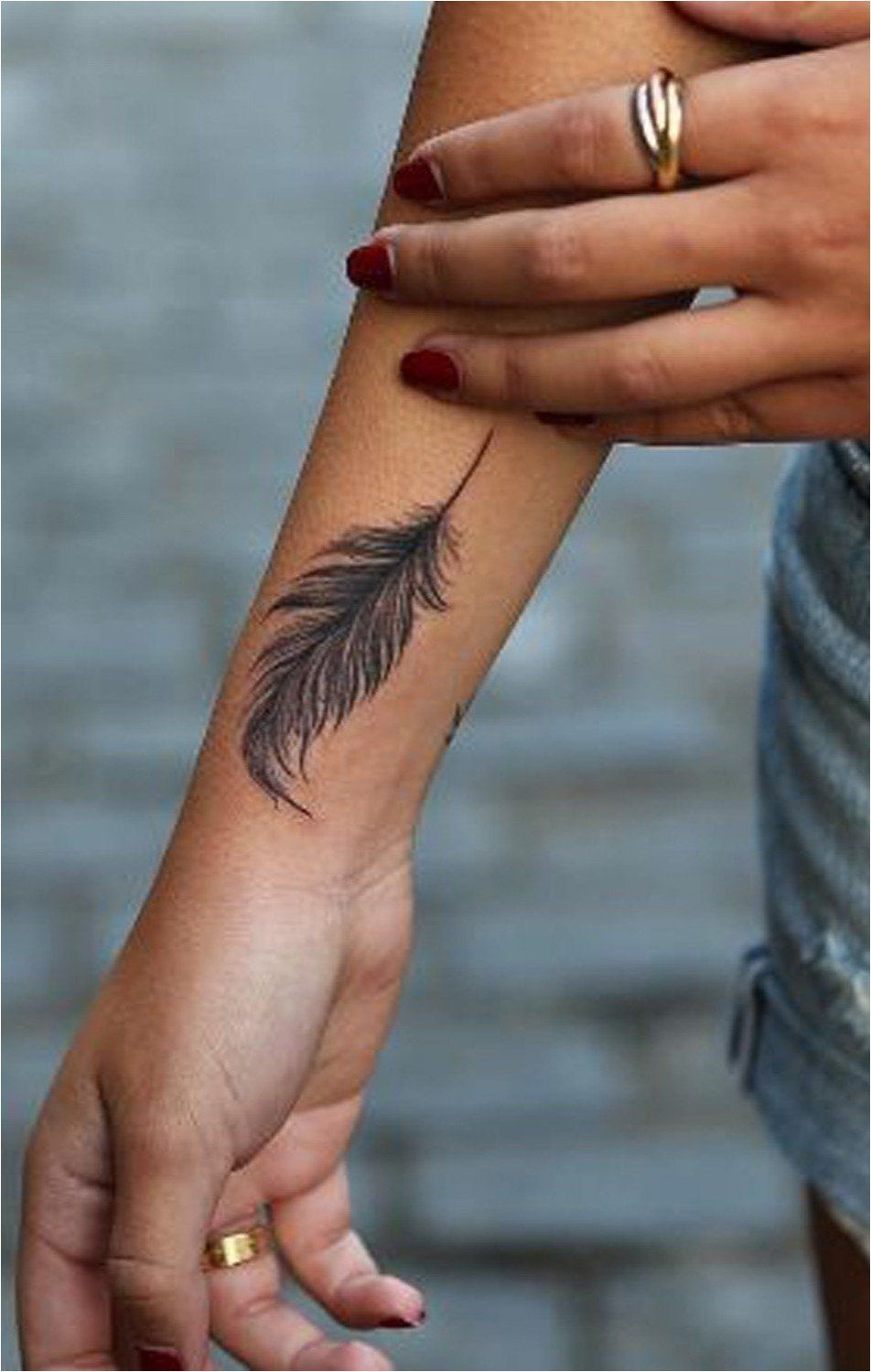 Tattoo Large Feather Wrist Tattoo Ideas For Women At Ideas And Designs