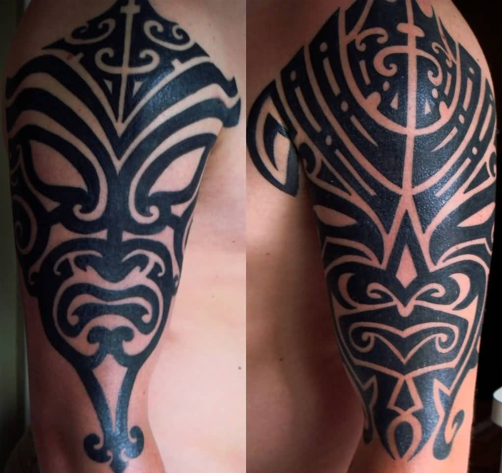 32 Traditional African Mask Tattoo Designs For Male Ideas And Designs