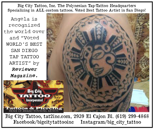 Ad Big City Tattoo In North Park – Reviewer News Network Ideas And Designs