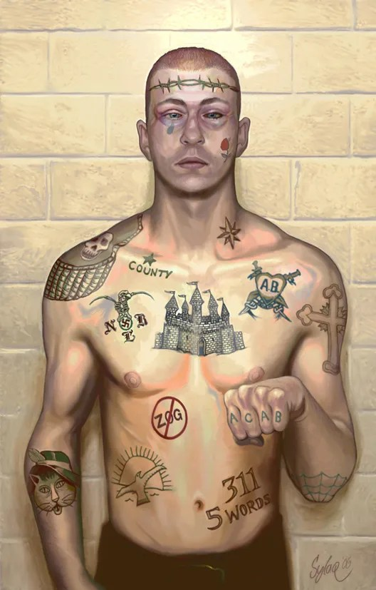Prison Tattoos And Their Secret Meanings Teargas Lawi Ideas And Designs