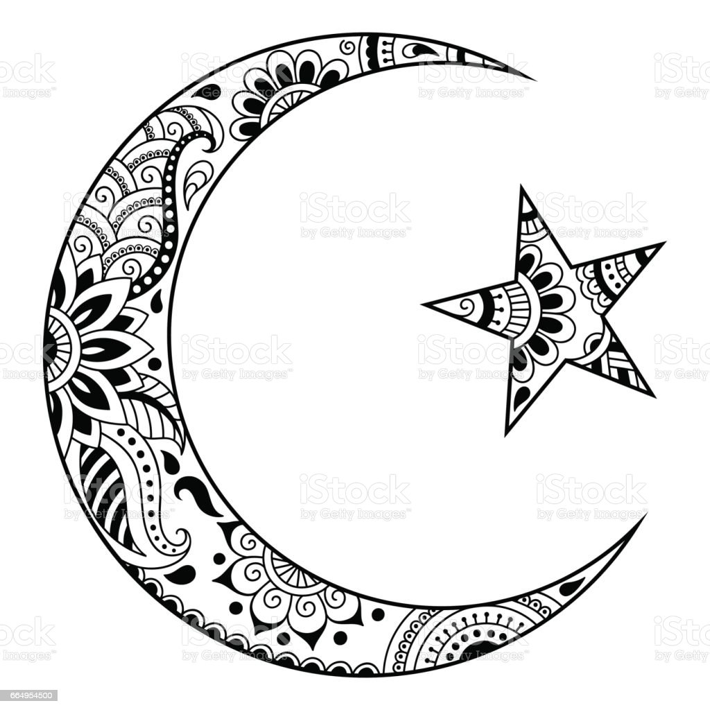 Religious Islamic Symbol Of The Star And The Crescent Ideas And Designs