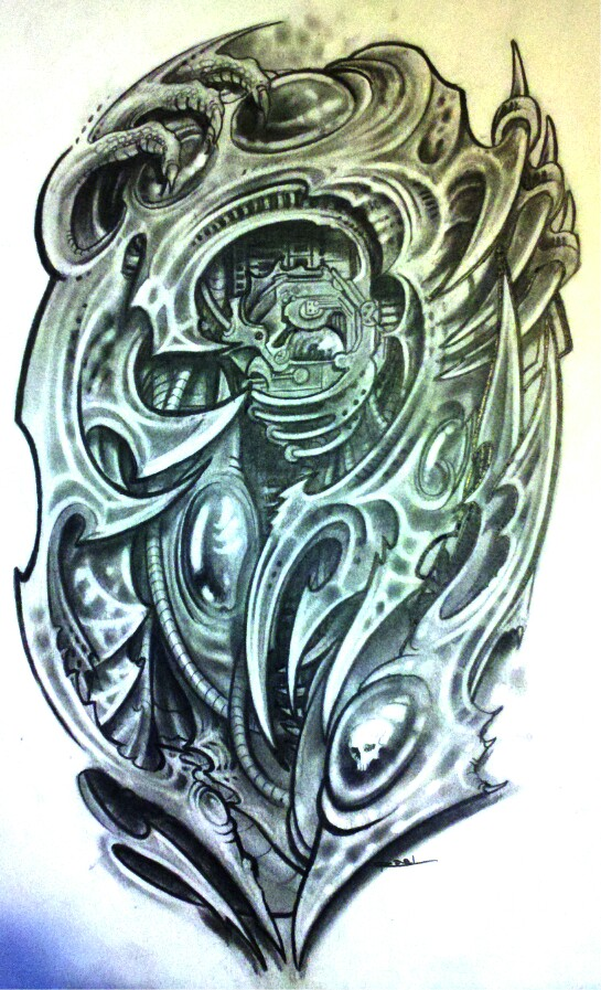 Biomechanical Tribal Tattoo Design By Josephraeljr On Ideas And Designs