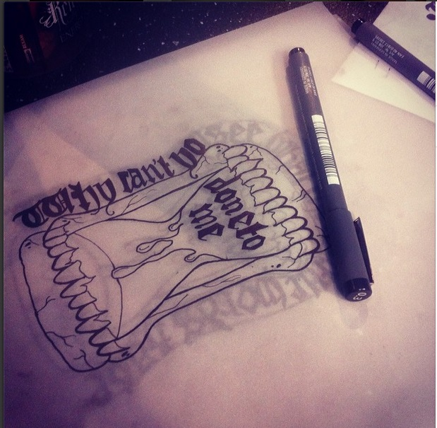 A Day To Remember Lyric Hourglass Tattoo Design By Ideas And Designs