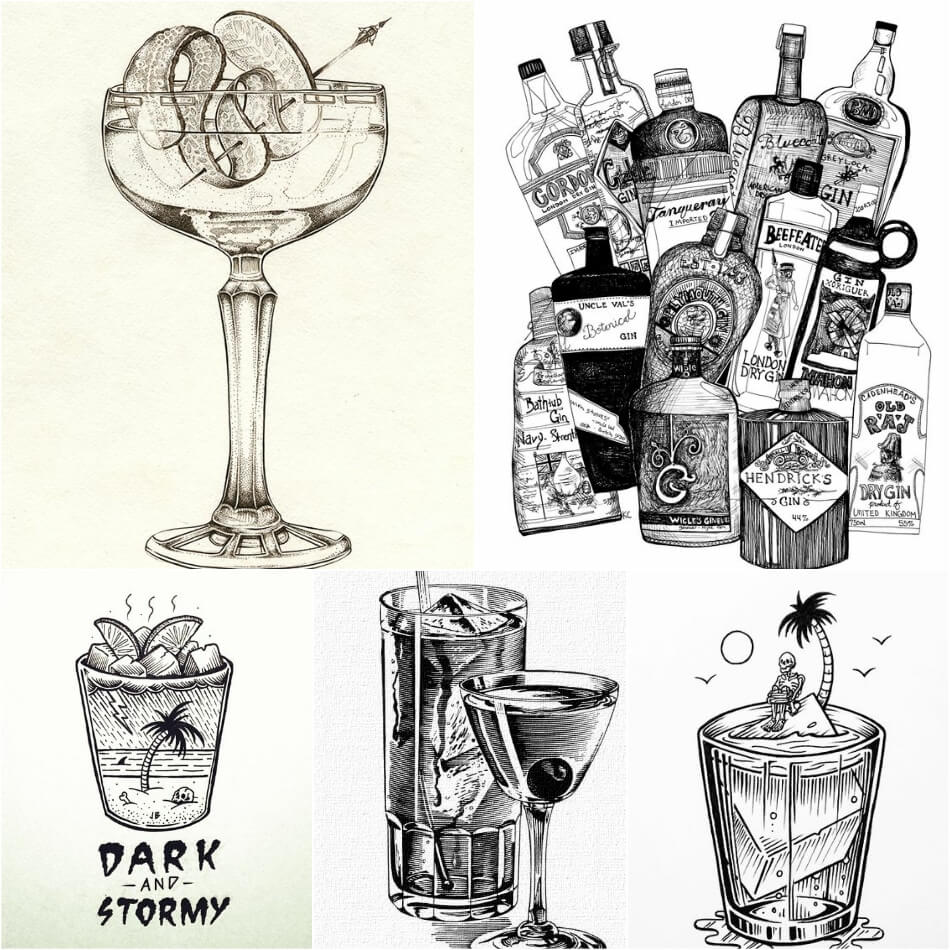 Stunning Tattoos For Bartenders Best Cocktail Drink Ideas And Designs