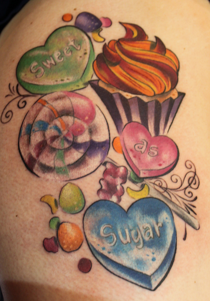 Rockabilly Candy Tattoo Rockabelle Bombshell Ideas And Designs