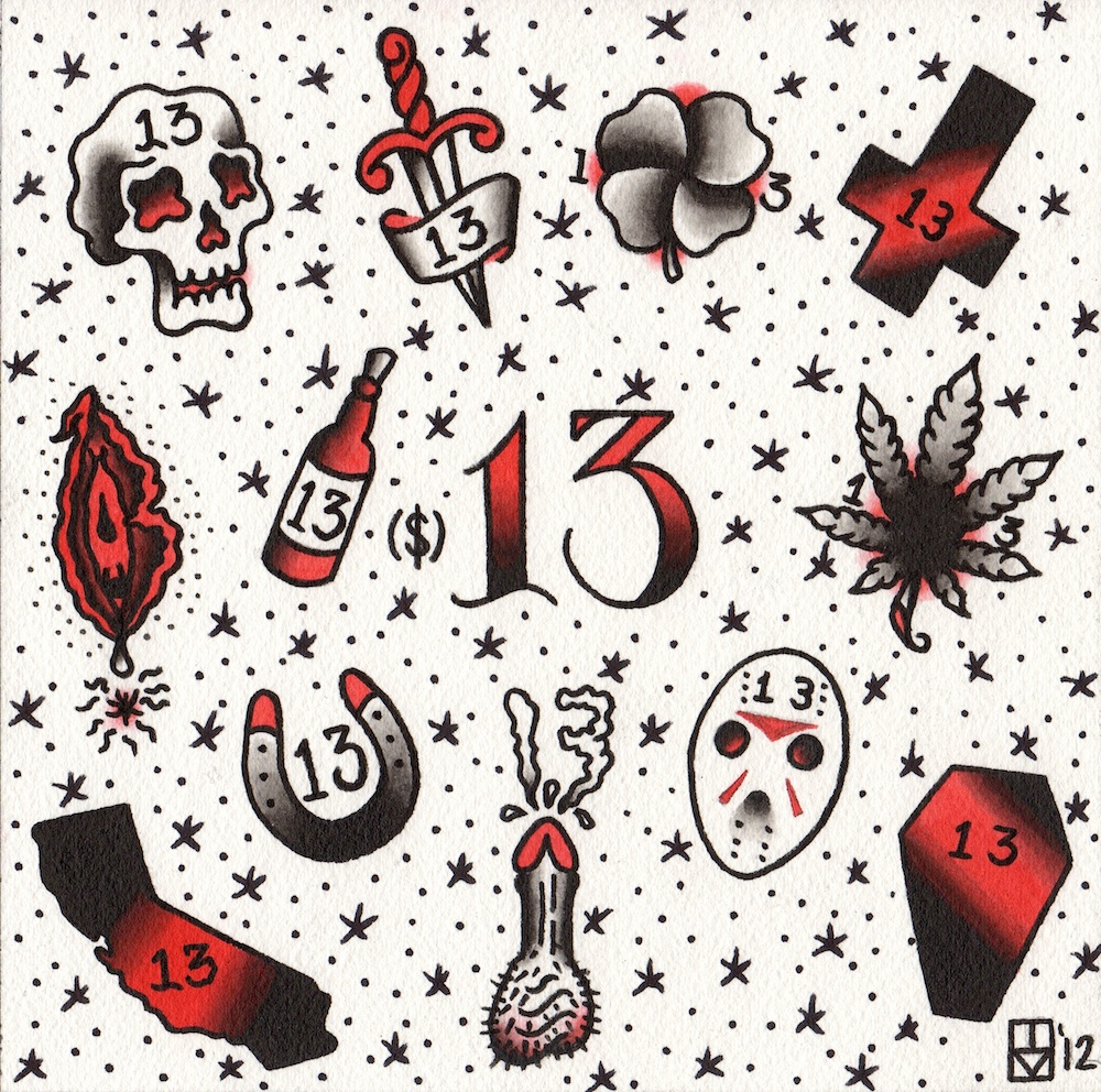 Friday The 13Th Tattoos By Apprentice Sacred Rose Tattoo Ideas And Designs