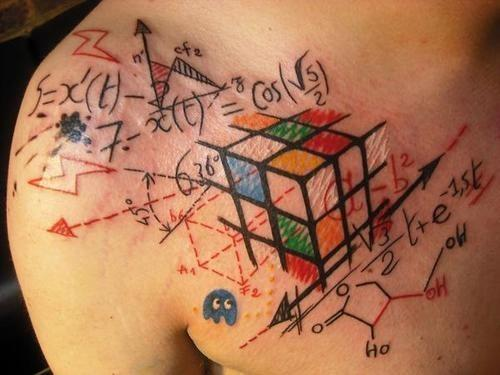 Amazing Rubik's Cube Tattoo – Infodicted Ideas And Designs