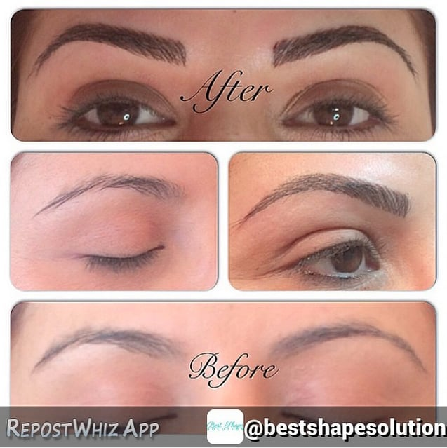 3D Hairstroke Eyebrow Tattoo Yelp Ideas And Designs