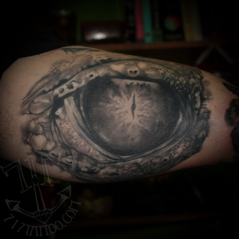 Croc Eye Done At 717 Tattoo Highspire Yelp Ideas And Designs