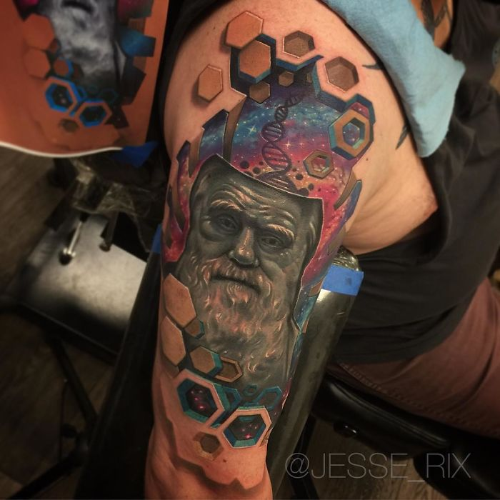 Artist Creates Amazing 3D Tattoos That Will Make You Look Ideas And Designs
