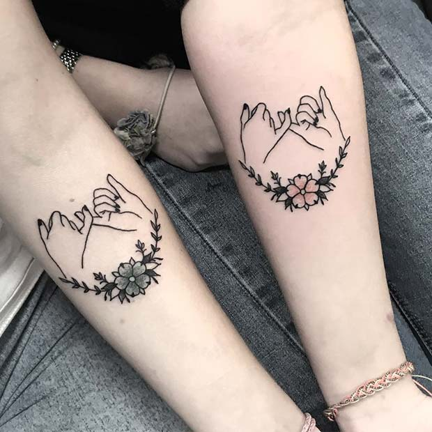 63 Cute Best Friend Tattoos For You And Your Bff Stayglam Ideas And Designs