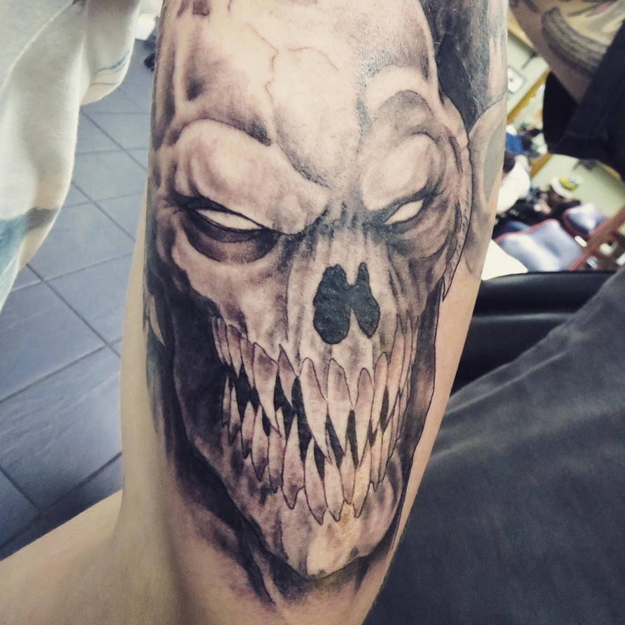 Demon Monster Tattoo As Part Of Tattoo Sleeve By Ideas And Designs