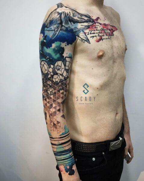 The 112 Best Watercolor Tattoos For Men Improb Ideas And Designs